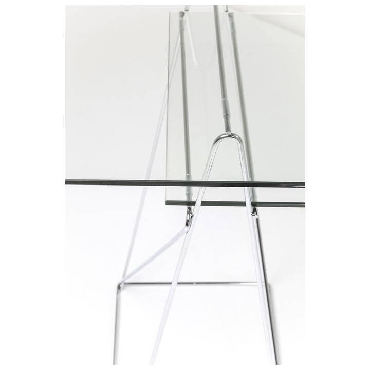 KARE Bureau (Argent, Transparent, 135 cm x 65 cm x 72 cm)