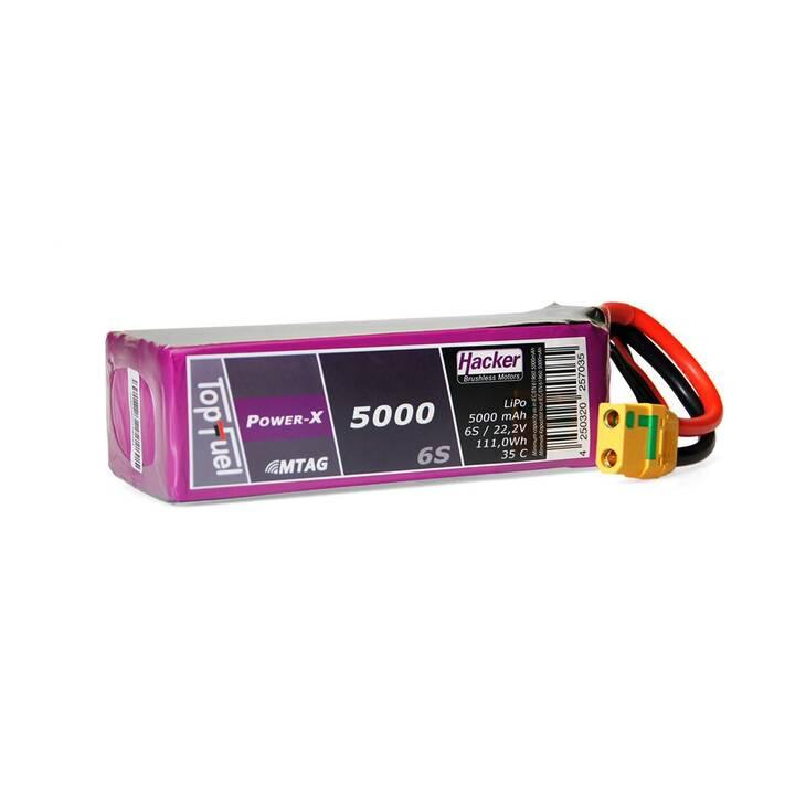 HACKER Accus TopFuel Power-X (LiPo, 5000 mAh, 22.2 V)