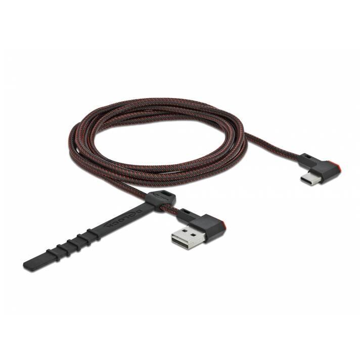 DELOCK Easy Cavo USB (USB-C, USB 2.0 Tipo-A, 2 m)