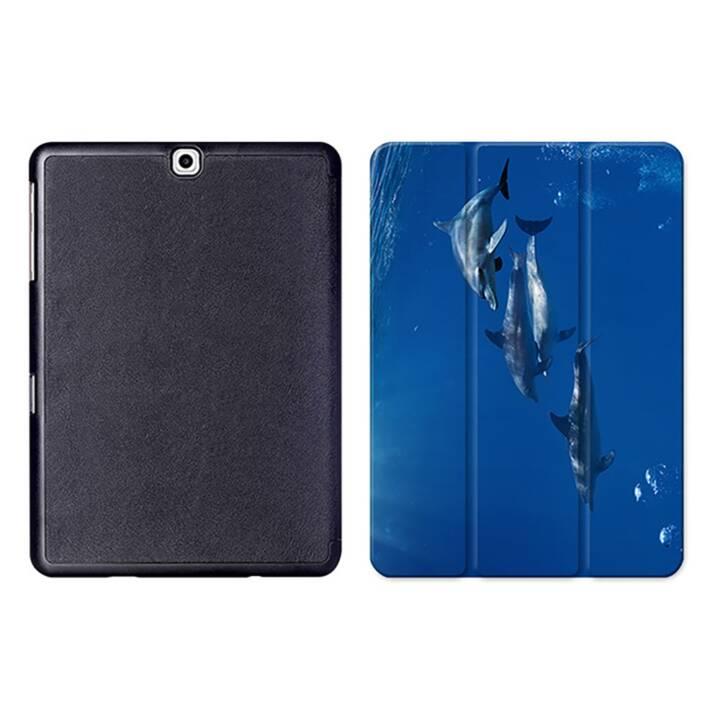 "EG MTT Tablet Bag con coperchio pieghevole Smart per Samsung Galaxy Tab S2 9.7"" MTT - Dolphins"