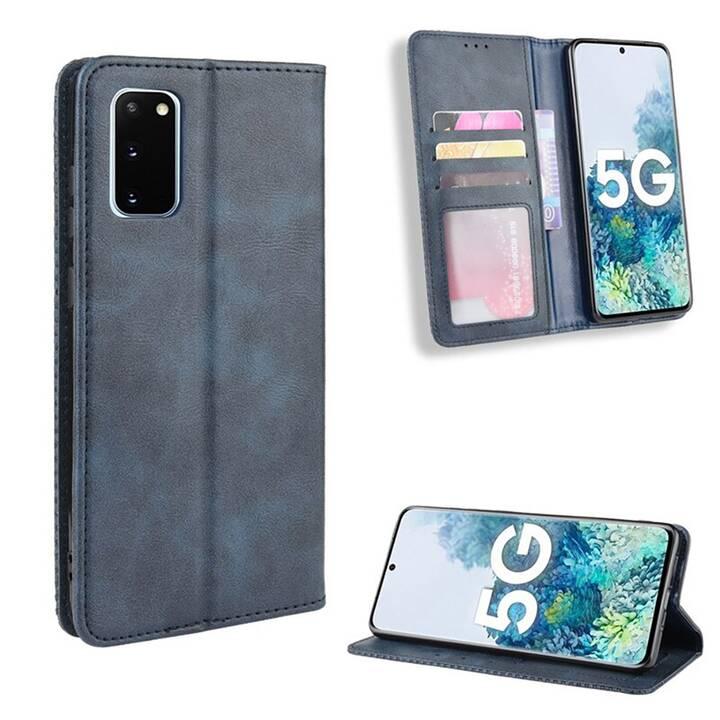 """EG Mornrise étui portefeuille pour Samsung Galaxy S20 Ultra 6.9"""" 2020 - bleu foncé"""