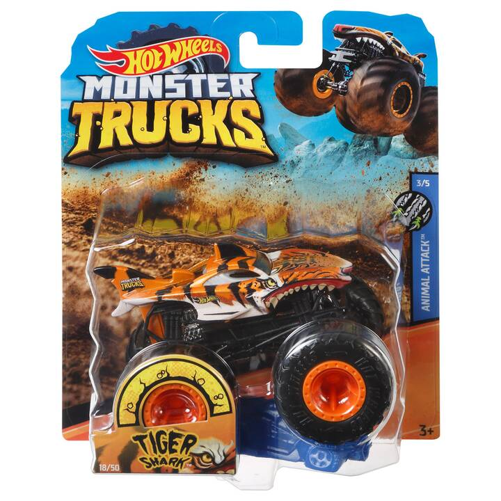 HOT WHEELS Monster Trucks Tiger Shark Macchinine