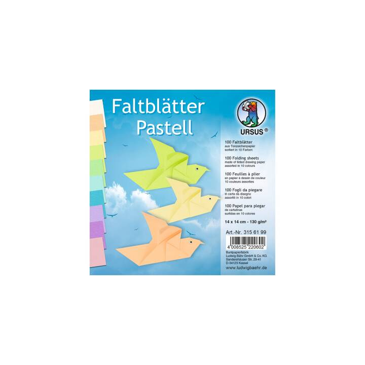 URSUS Pliage du papier Origami (Multicolore)