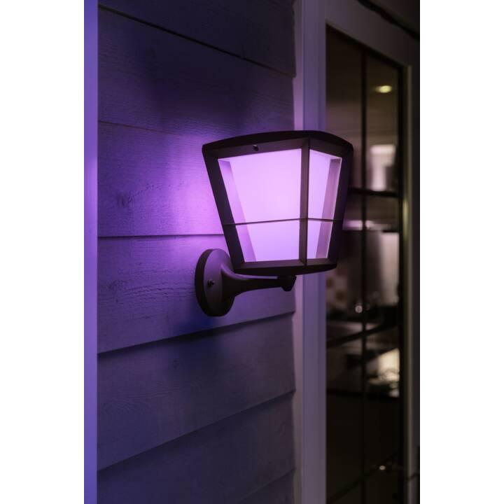 PHILIPS HUE Lampada da parete Econic (LED incorporato, 15 W, Nero)