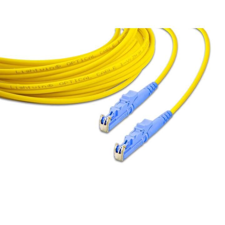 LIGHTWIN LSP-09 E2-E2 1.0 1m E-2000 E-2000 Gelb, Blau Glasfaserkabel