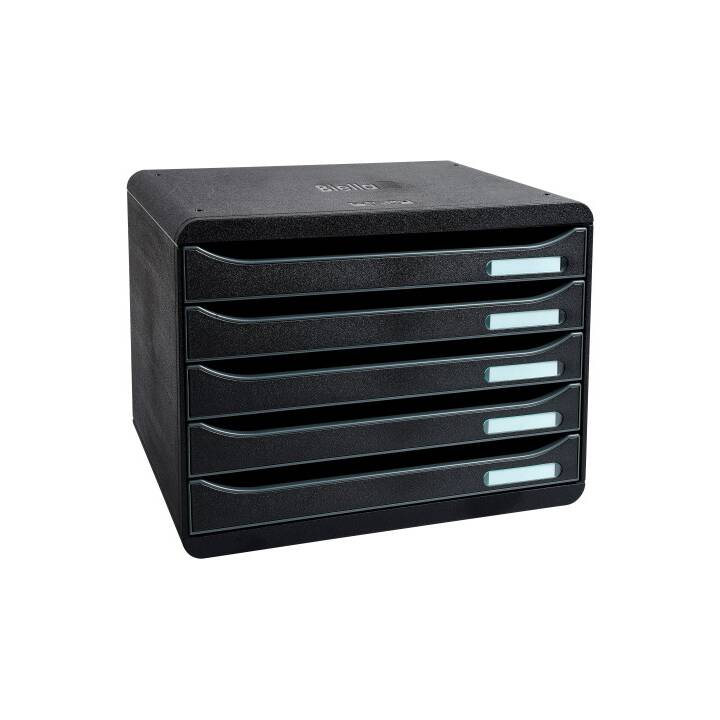 BIELLA BigBox Box de tiroirs (A4+, Noir)