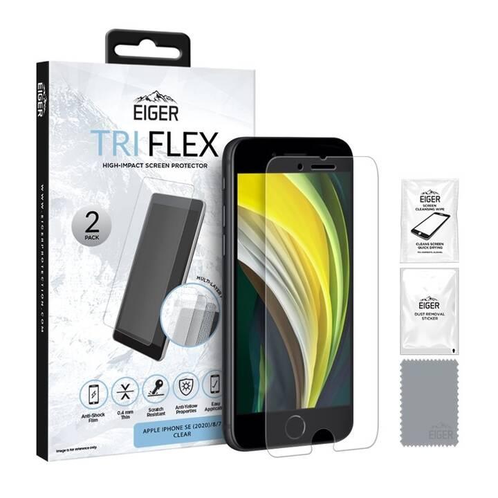 EIGER Displayschutzglas Screen Protector (iPhone SE 2020, iPhone 7, iPhone 8)