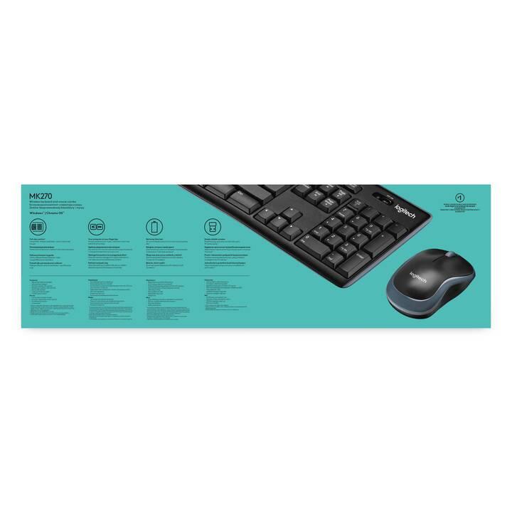 LOGITECH MK270 (USB, FR, Sans fil)