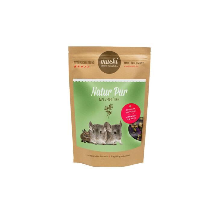MUCKI Snack per roditori Natur Pur Malvenblüten (20 g, Cincilla, Degù)