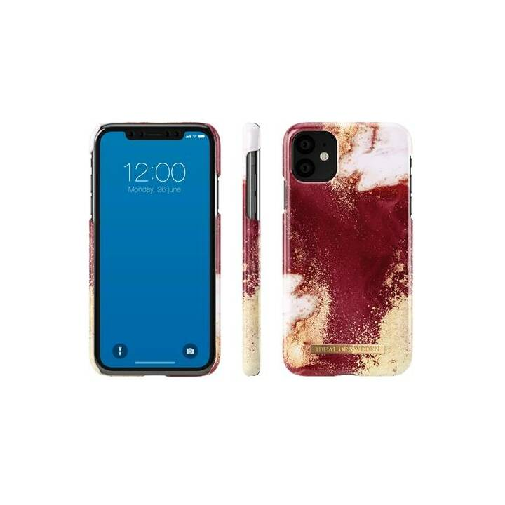 IDEAL OF SWEDEN Backcover Golden Burgundy Marble (iPhone 11, Gold, Weiss, Rot)