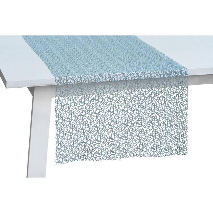 PICHLER Chemin de table Network (30 cm x 260 cm, Rectangulaire, Bleu)