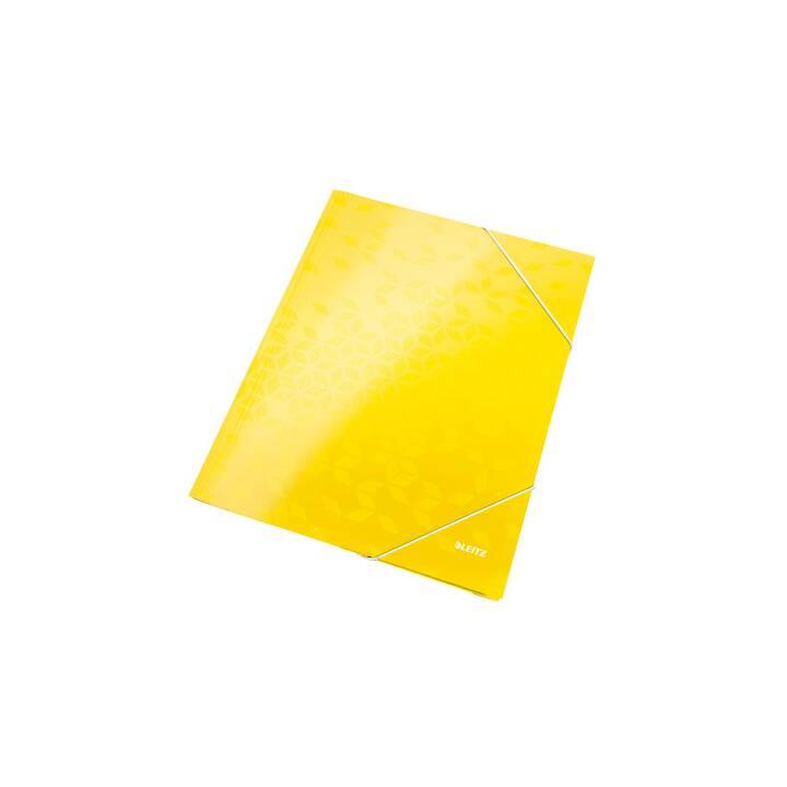 LEITZ Gummizugmappe (Gelb, A4, 1 Stück)
