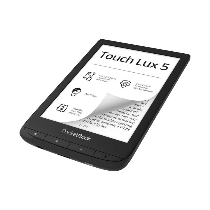 "POCKETBOOK Touch Lux 5 (6"", Schwarz, WiFi, 8 GB)"