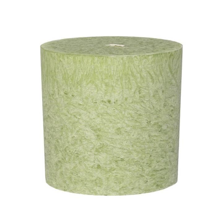 HERZOG Kristallo Bougie cylindrique (Vert menthe, 1 pièce)