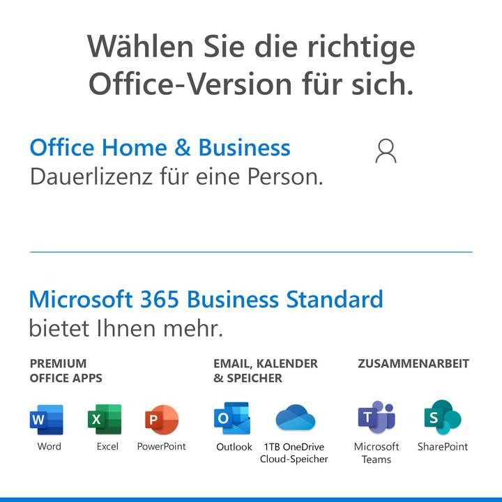 MICROSOFT Office Home & Business 2019 (Versione completa, 1x, Tedesco)