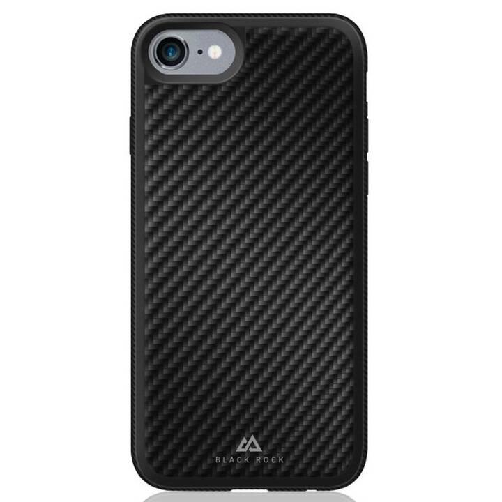 BLACK ROCK Backcover Real Carbon (iPhone 7, Noir)