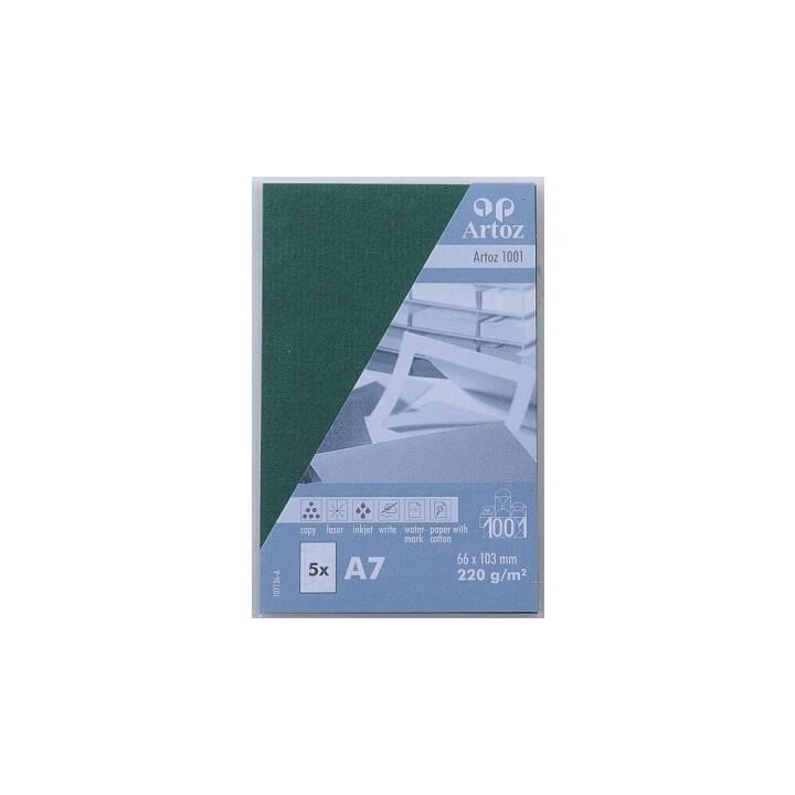 Biglietti da visita ARTOZ 1001 A7 Racing Green - 5 pezzi