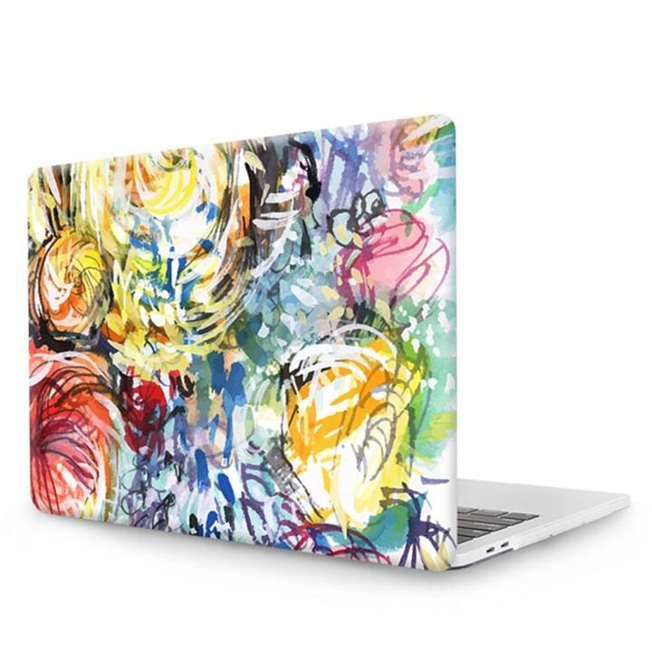 """EG MTT Coperchio per computer portatile con tastiera, protezione antipolvere, penna a sfera per MacBook Pro 13"""" CD ROM - colorato"""