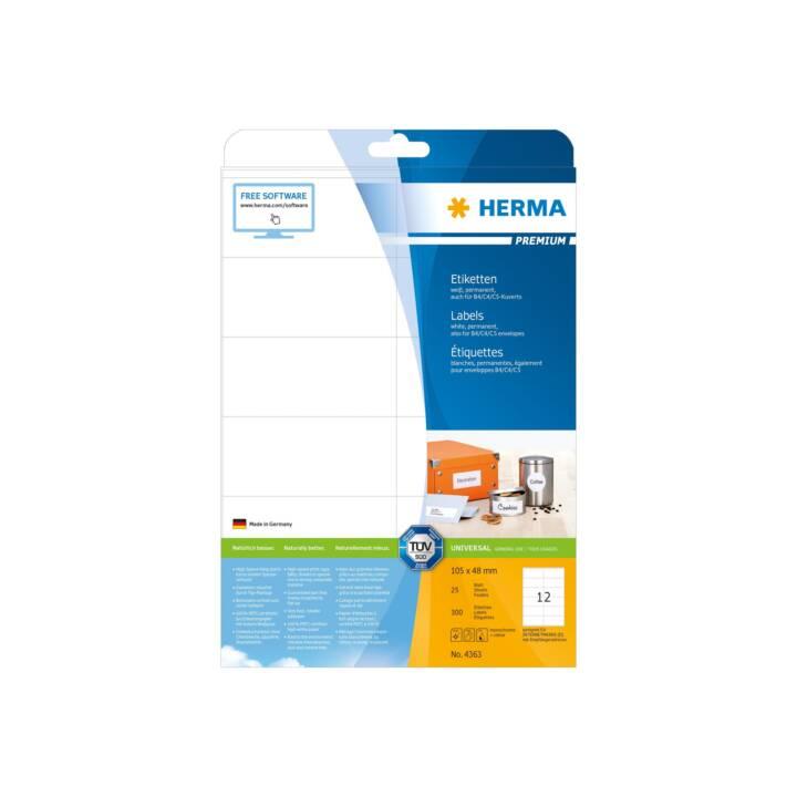 Etiquettes HERMA Premium A4 105x48 mm 300 pièces