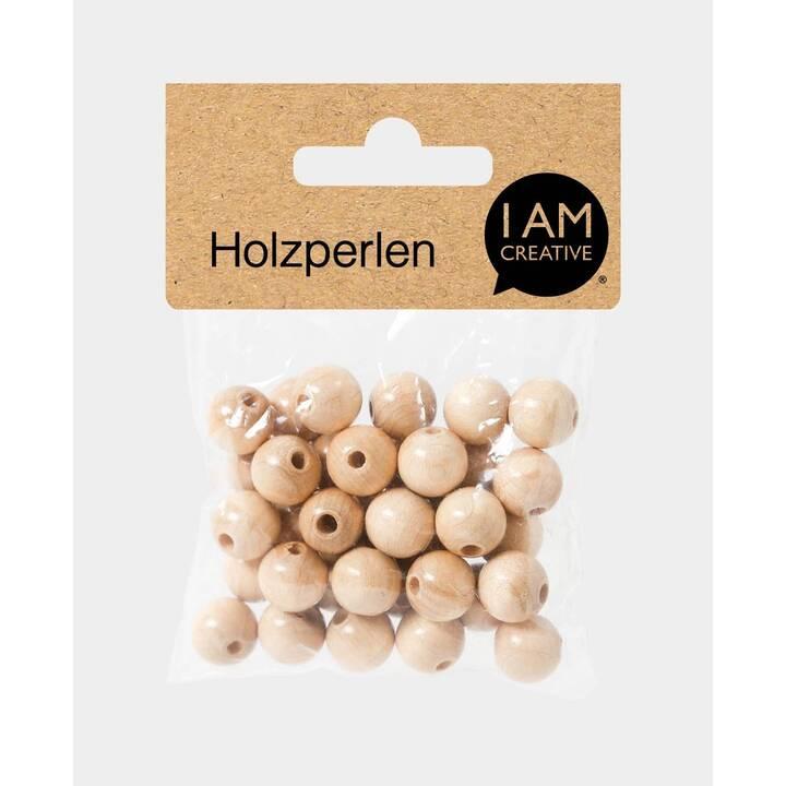 I AM CREATIVE Perlen (Holz, Natur)