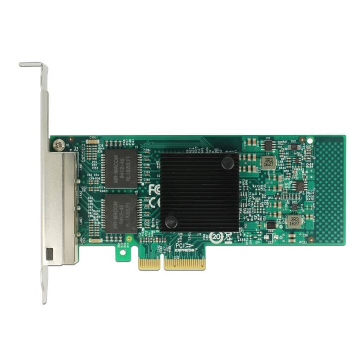 DELOCK carte réseau (4x 1 Gb/s, 4x PCI-e, RJ-45)