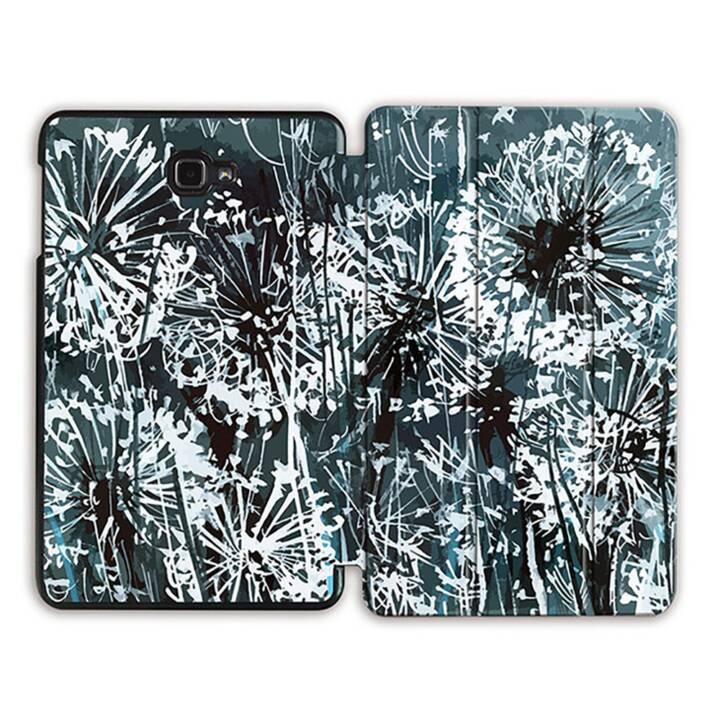 """EG MTT Sacoche à comprimés avec housse Smart pliable pour Samsung Galaxy Tab A 10.1"""" (2016) - Fleurs grises MTT"""