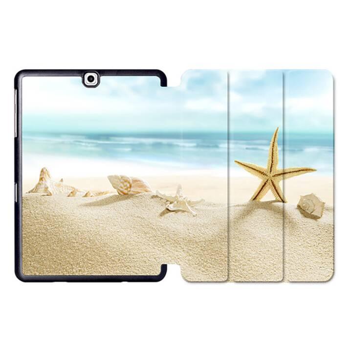 """EG MTT Tablet Tasche mit Smart faltbare Abdeckung für Samsung Galaxy Tab S2 9.7 """"- Strand"""