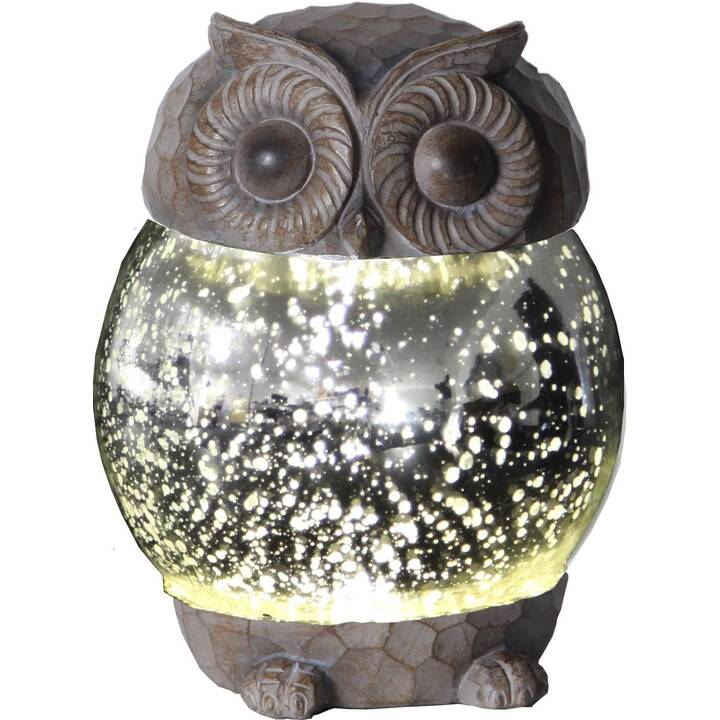 STAR TRADING Solar Owly Lampe solaire (LED incorporé, 0.06 W, Argent)