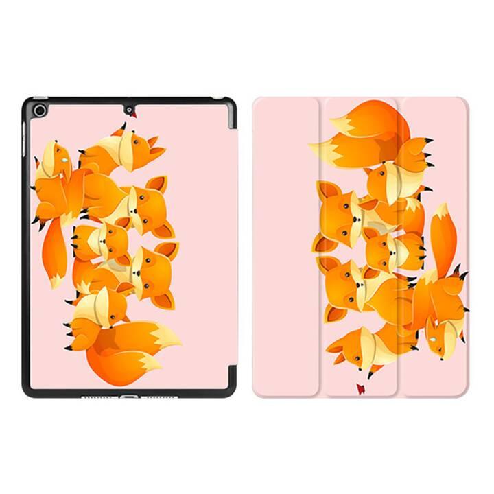 """EG iPad Hülle für Apple iPad 9.7 """"- rosa Cartoonfüchse"""