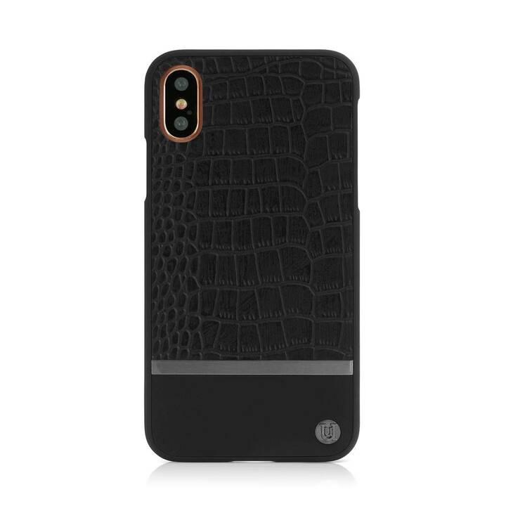 UUNIQUE Backcover Croco (iPhone X, Nero)