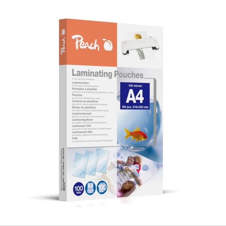 PEACH Laminierfolie, A4, 100 µm, 100 Stk.