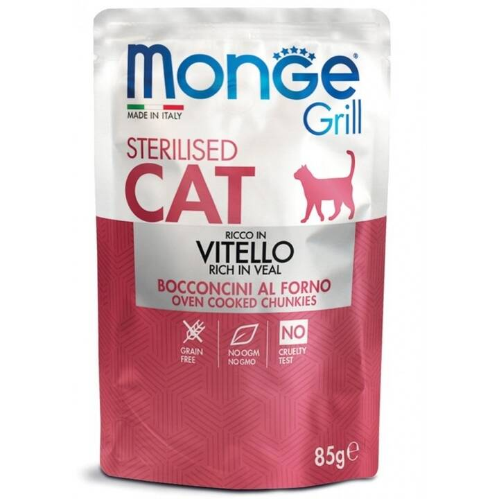 MONGE Sterilised Cat (Adulto, 85 g, Vitello)