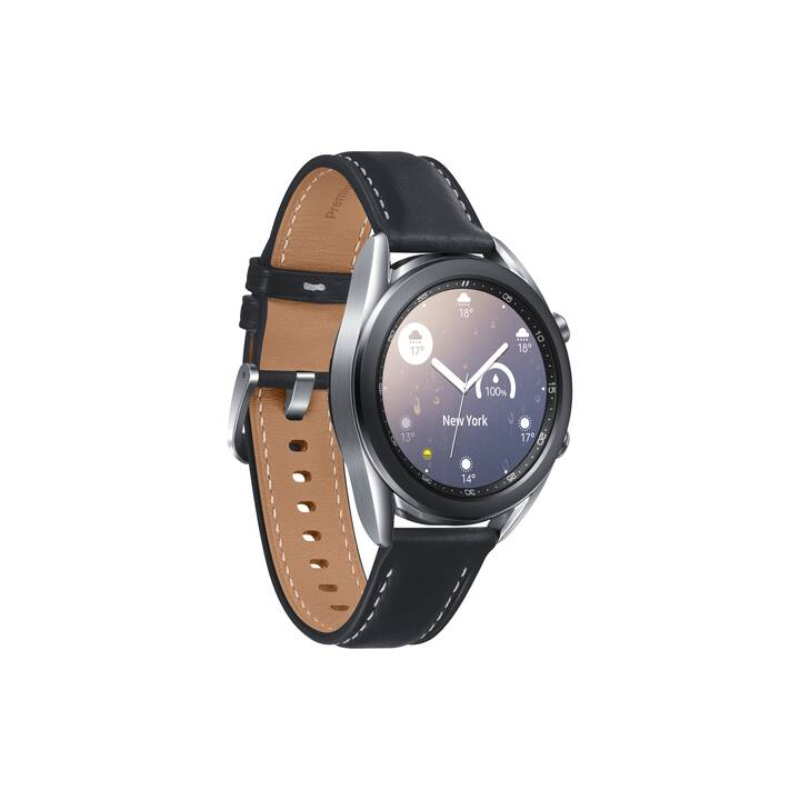SAMSUNG Galaxy Watch3 (41 mm, Edelstahl, Echtleder)