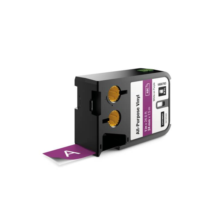 DYMO Ruban d'écriture (24 mm x 7 m, Blanc / Violet)