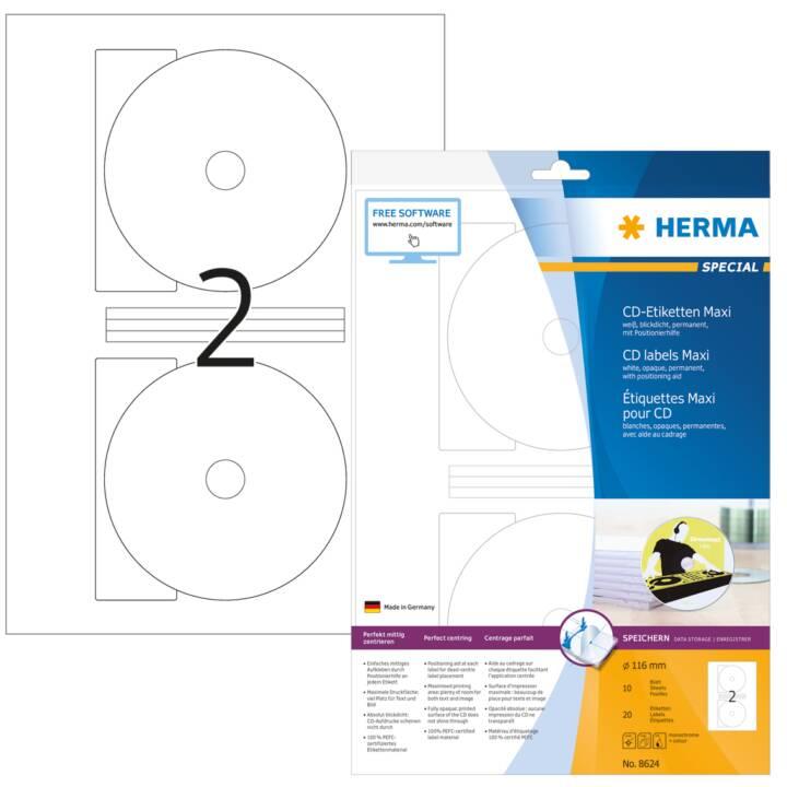 HERMA CD Etiketten white