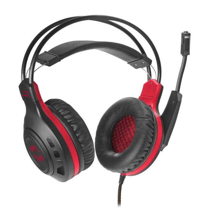 SPEEDLINK Celsor (Over-Ear, Schwarz, Rot)