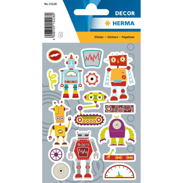 HERMA Sticker Sticker Famiglia Robot
