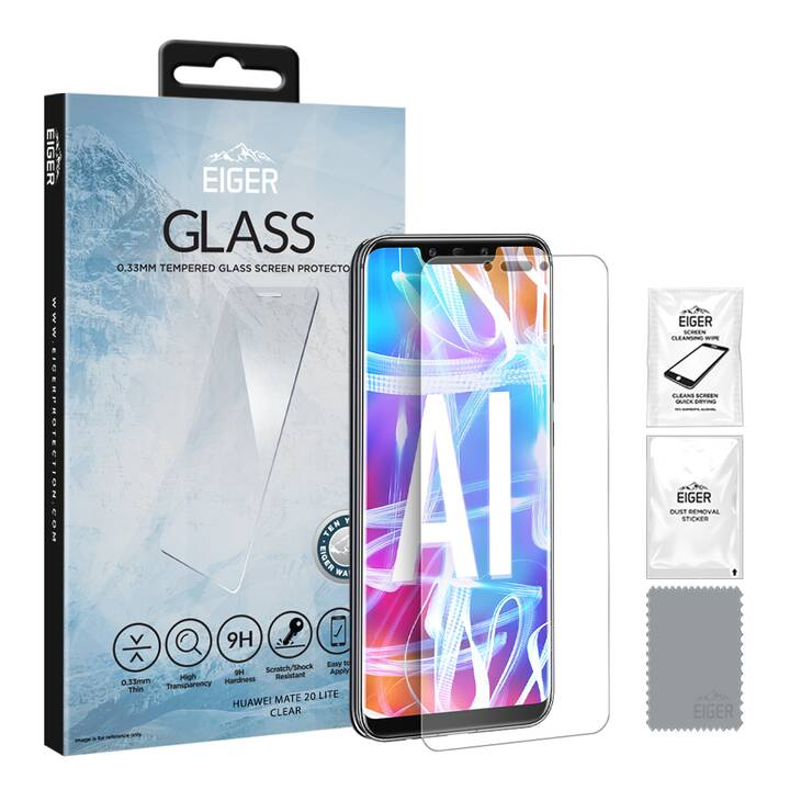 EIGER Displayschutzglas Glass (Hochtransparent, Nova 5T)