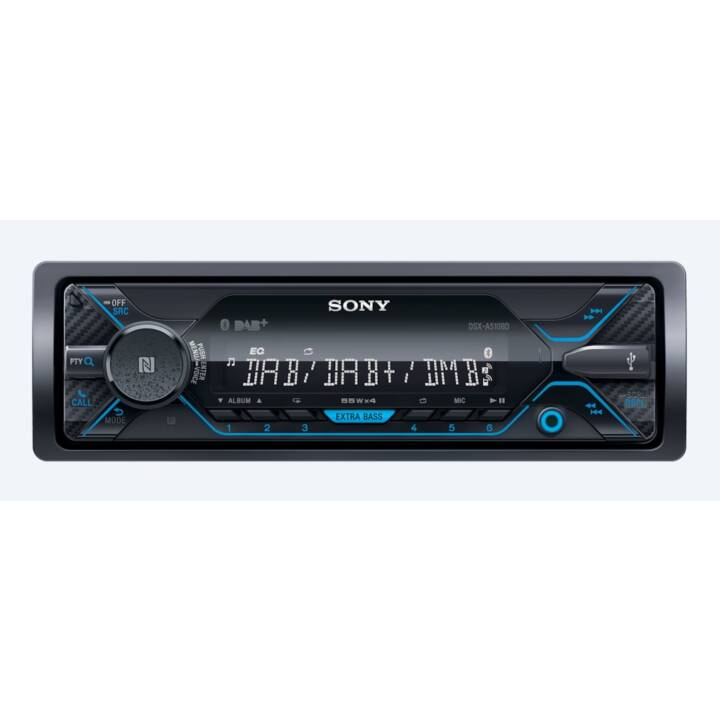 SONY DSX-A510KIT, Autoradio, Schwarz
