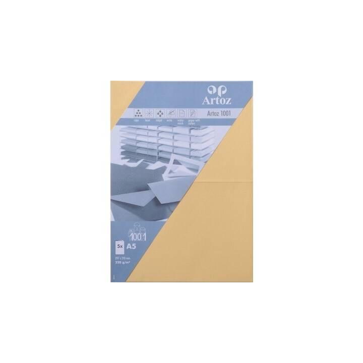 ARTOZ Cartes en blanc (Universel, A5, Jaune)