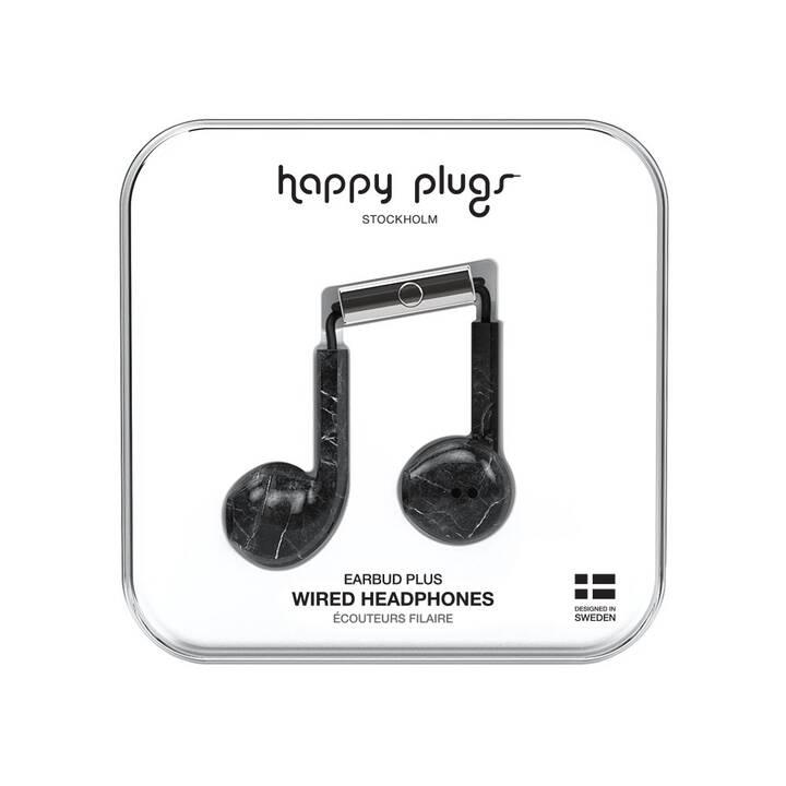 HAPPY PLUGS Black Marble (Earbud, Nero)