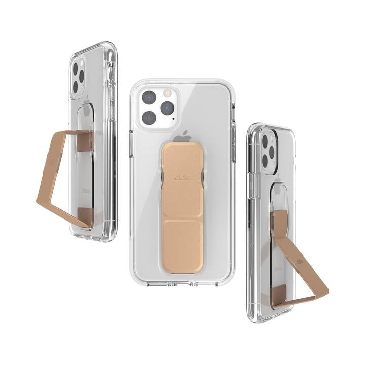 CLCKR Backcover Clear Gripcase  (iPhone 11 Pro, Roségold, Transparent)