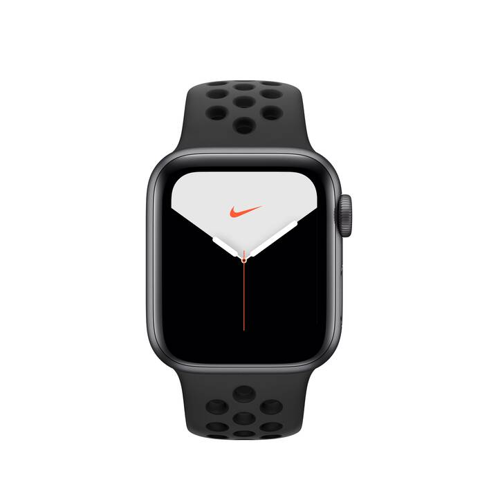 APPLE Watch Nike Series 5 GPS Space Grau/Anthrazit/Schwarz (40 mm, Aluminium, Silikon)