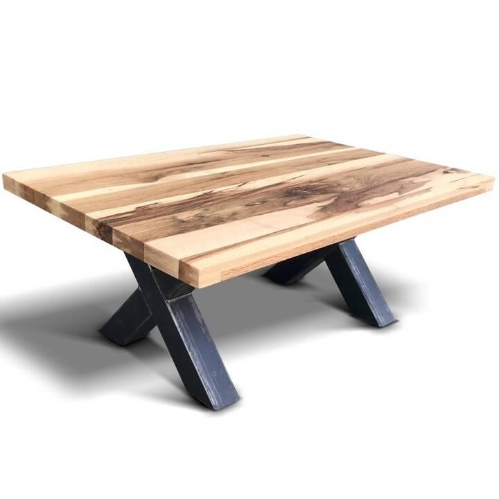 MUTONI WOOD Table de salon Factory Montreal (45 cm, Brun, Noir)