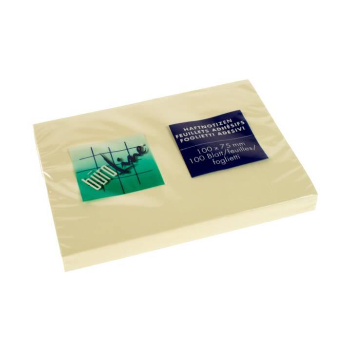 BÜROLINE Haftnotizen (76 mm x 102 mm, Gelb)