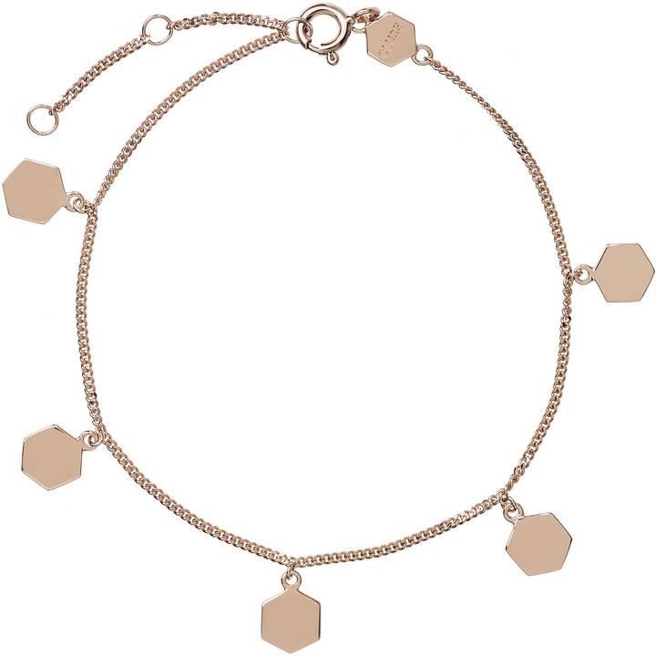 CLUSE Essentielle Hexagon Charms Armreif (Silber 15 cm)