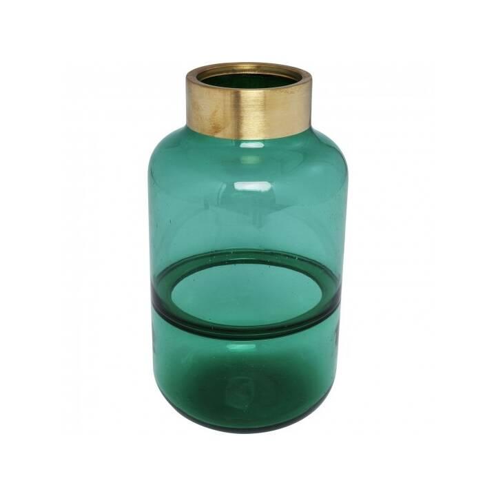 KARE Vaso Positano Belly (28 cm x 16 cm, Verde, Oro)