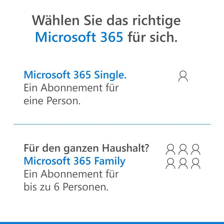 MICROSOFT 365 Single (Licence, 1x, 1 année, Allemand)