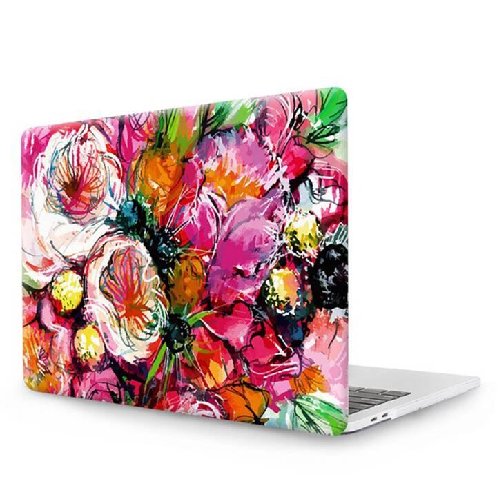 """EG MTT Laptop Abdeckung mit Tastaturabdeckung, Anti-Staubschutz, Kugelschreiber für MacBook Pro 13"""" Touch Bar - Rosa Blumen"""