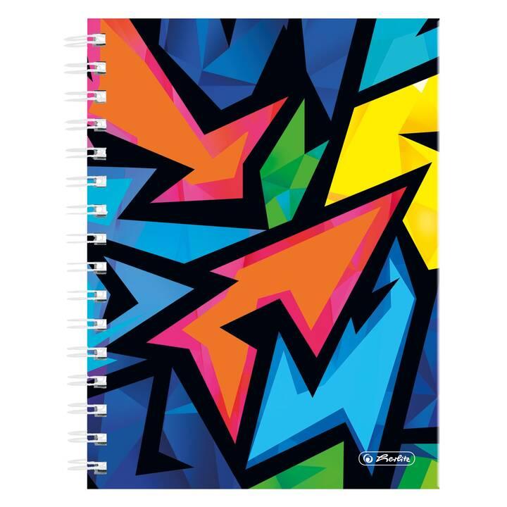 HERLITZ Taccuini Neon Art (A5, Quadrettato)